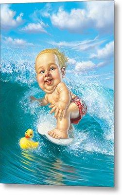 Born To Surf Metal Print