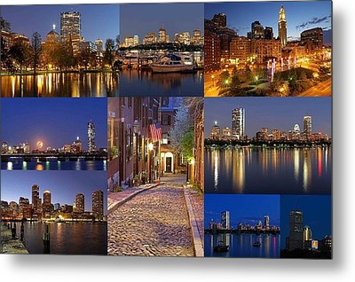 Boston Skyline Photography Metal Print by Juergen Roth