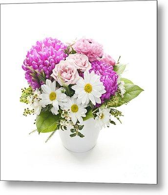 Bouquet Of Flowers Metal Print by Elena Elisseeva