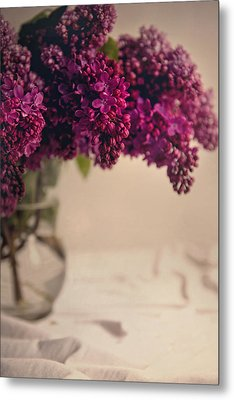 Bouquet Of Fresh Lilacs Metal Print
