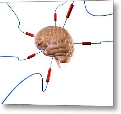 Brain Experiment Metal Print