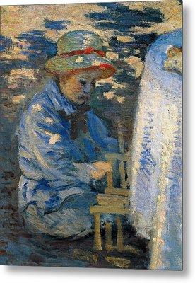 Breakfast In The Garden Metal Print by Claude Monet