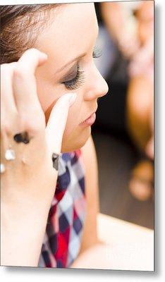Bridal Eyelashes Metal Print by Jorgo Photography - Wall Art Gallery