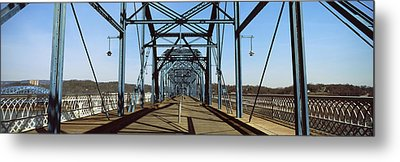 Bridge Across A River, Walnut Street Metal Print by Panoramic Images