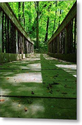 Bridge In The Woods Metal Print by Andrew Martin