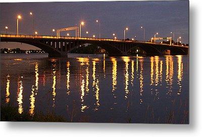 Bridge Over Water Metal Print by Jocelyne Choquette