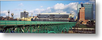 Bridge With Buildings Metal Print by Panoramic Images
