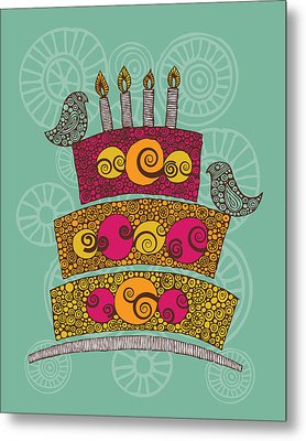 Brithday Cake_hi Res Metal Print by Valentina Ramos