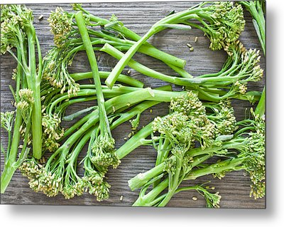 Broccoli Stems Metal Print by Tom Gowanlock