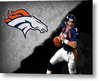 Broncos John Elway Metal Print by Joe Hamilton