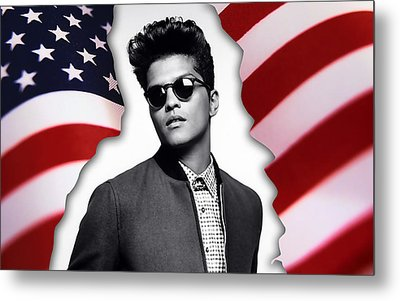 Bruno Mars Metal Print by Marvin Blaine