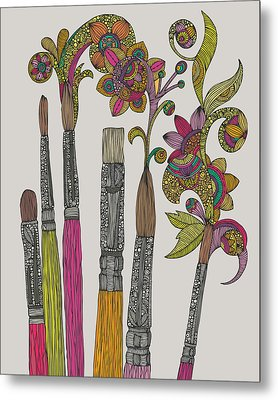 Brushes Metal Print by Valentina