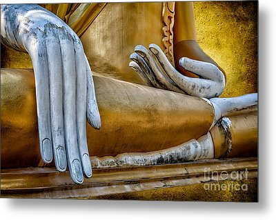 Buddha Golden Metal Print
