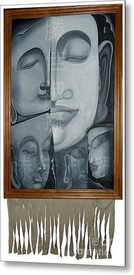 Buddish Facial Reactions Metal Print by Fei A