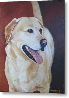 Metal Print featuring the painting Buddy by Sharon Schultz
