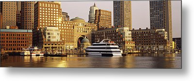 Buildings At The Waterfront, Boston Metal Print by Panoramic Images