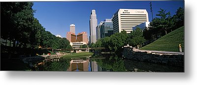 Buildings At The Waterfront, Qwest Metal Print by Panoramic Images