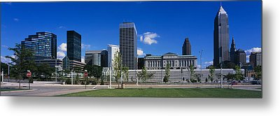 Buildings In A City, Cleveland, Ohio Metal Print