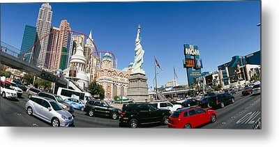 Buildings In A City, New York New York Metal Print by Panoramic Images