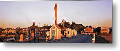 Buildings In A City, Provincetown, Cape Metal Print