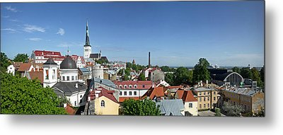Buildings In A City, St Olafs Church Metal Print by Panoramic Images
