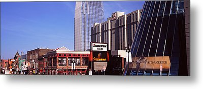 Buildings In A Downtown District Metal Print by Panoramic Images