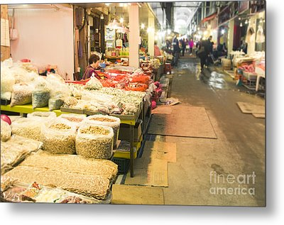 Bujeon Market In Busan Metal Print by Tuimages