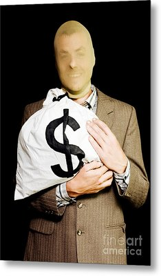Business Or White-collar Thief Metal Print