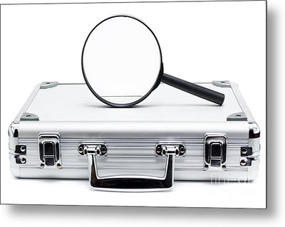 Business Search And Review On White Background Metal Print by Jorgo Photography - Wall Art Gallery
