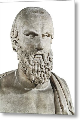 Bust Of Aeschylus. 5th C. Bc. Greek Metal Print