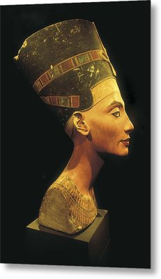 Bust Of Nefertiti. S.xiv Bc. 19th Metal Print