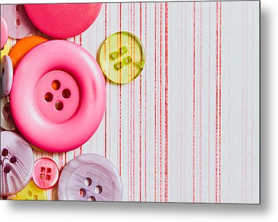 Buttons Metal Print by Tom Gowanlock