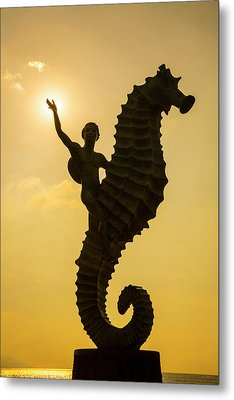 'caballero Del Mar' (the Seahorse Metal Print