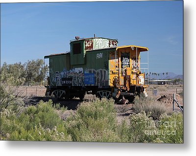 Caboose  Metal Print by Diane Greco-Lesser