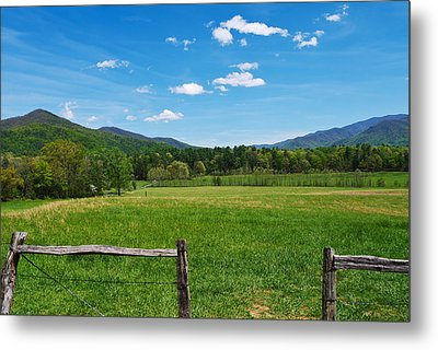 Cades Cove Metal Print by Melinda Fawver
