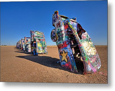 Cadillac Ranch Metal Print by Peter Tellone