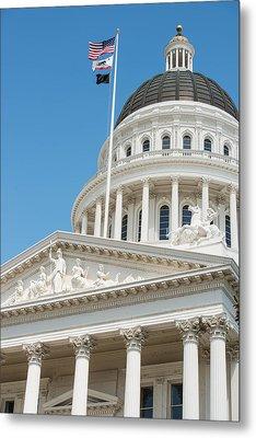 California State Capitol In Sacramento Metal Print