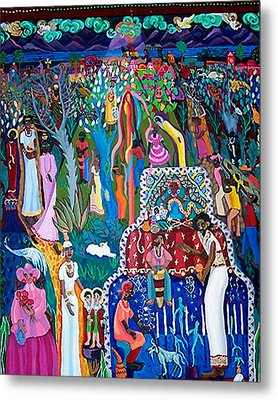 Calling The Spirits Metal Print by Maria Alquilar