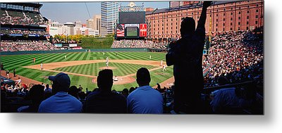 Camden Yards Baseball Game Baltimore Metal Print by Panoramic Images