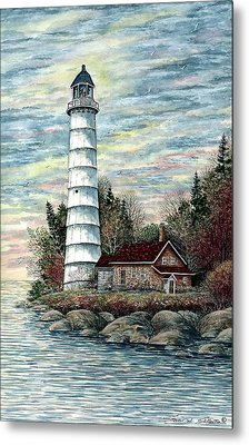 Cana Island Light Metal Print by Steven Schultz
