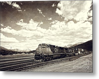 Canada Rail Metal Print by Ivy Ho