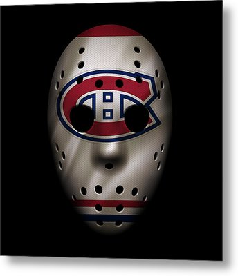 Canadiens Jersey Mask Metal Print by Joe Hamilton