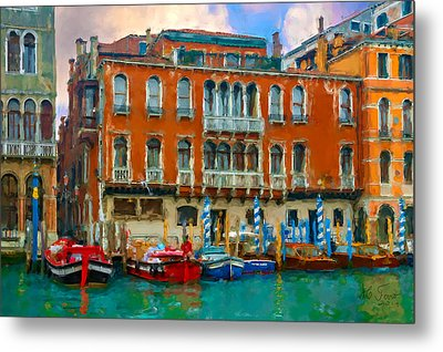Metal Print featuring the photograph Canal Grande. Venezia by Juan Carlos Ferro Duque
