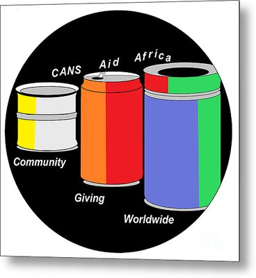 Cans Aid Africa Community Giving Worldwide Metal Print by Mudiama Kammoh