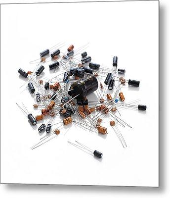 Capacitors Metal Print
