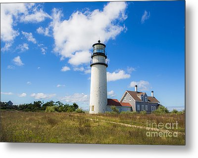 Cape Cod Lighthouse Metal Print by Diane Diederich