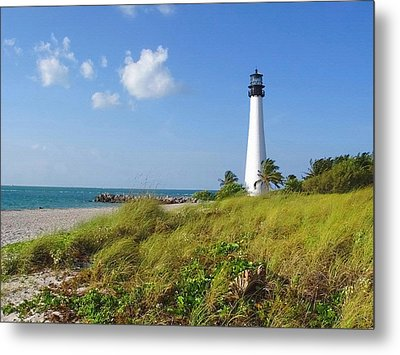 Cape Florida Lighthouse Metal Print