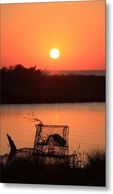 Cape Hatteras Sunset North Carolina Metal Print by Mountains to the Sea Photo