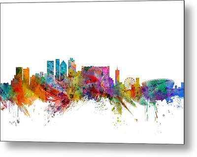 Cape Town South Africa Skyline Metal Print