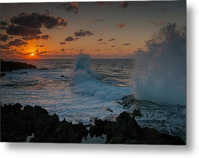 Cape Zampa Sunset Metal Print by Roger Clifford